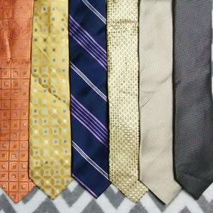 Michael Kors 6 Tie Lot 100% Silk